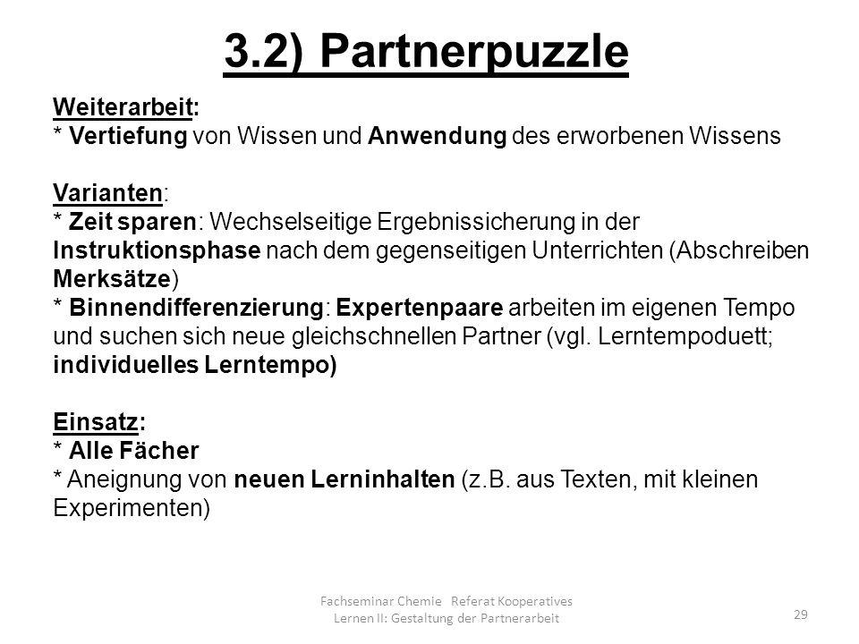 3.2) Partnerpuzzle