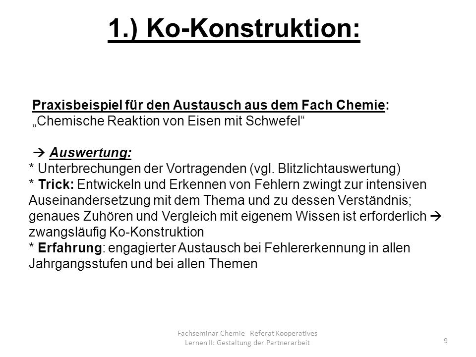 1.) Ko-Konstruktion: