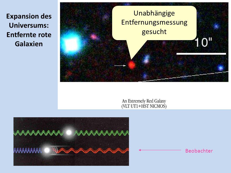 Expansion des Universums: Entfernte rote Galaxien