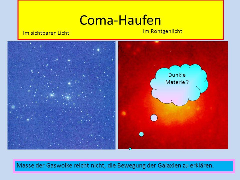 Coma-Haufen Im Röntgenlicht. Im sichtbaren Licht.
