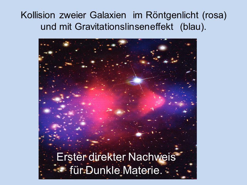 Erster direkter Nachweis für Dunkle Materie.