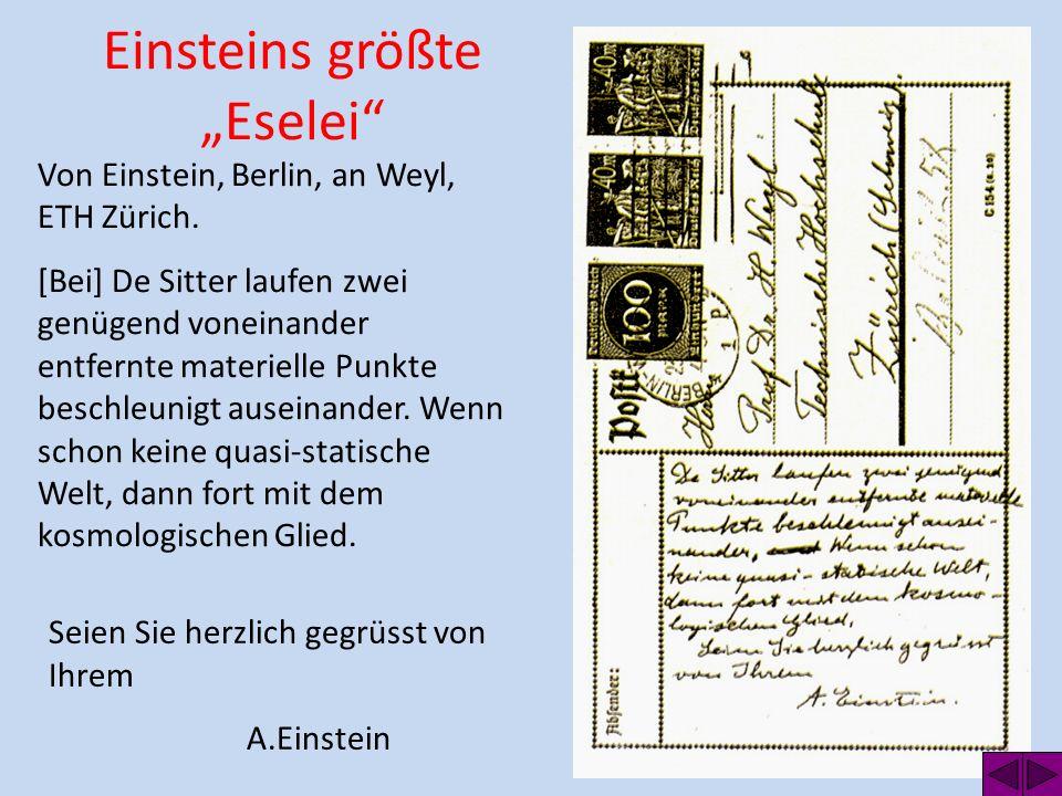"""Einsteins größte """"Eselei"""