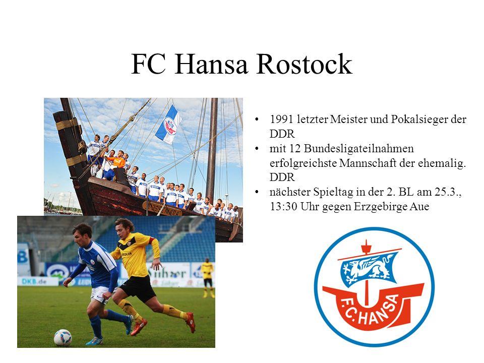 FC Hansa Rostock 1991 letzter Meister und Pokalsieger der DDR