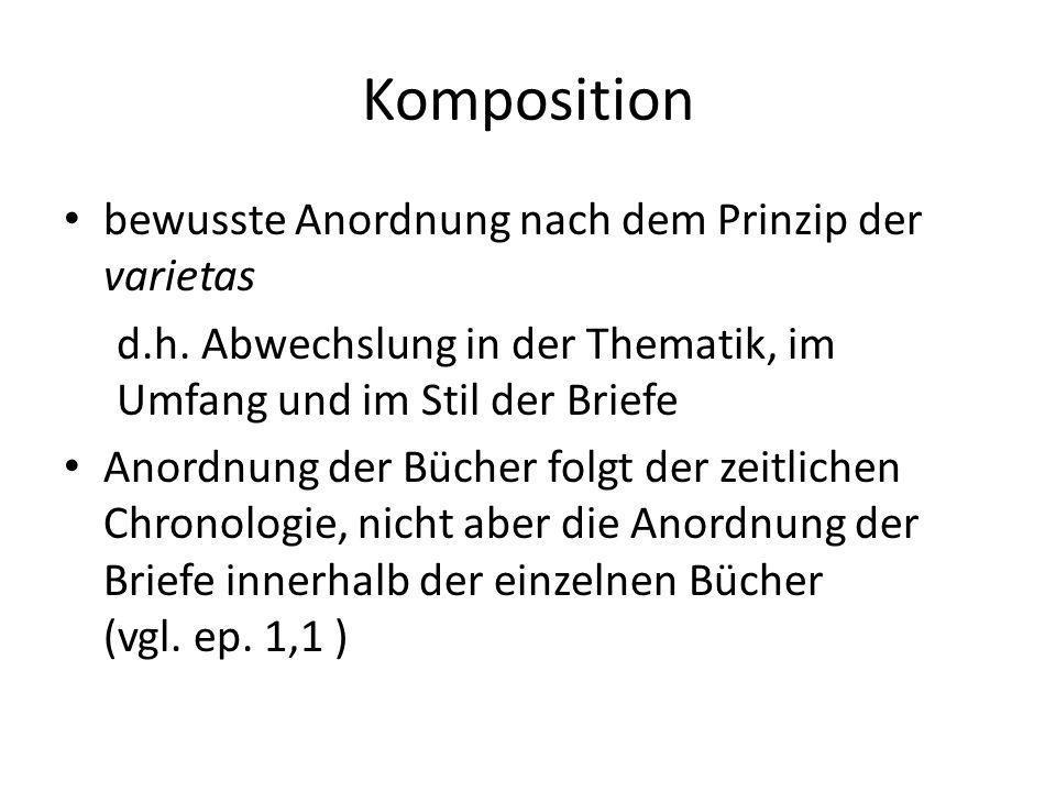 Komposition bewusste Anordnung nach dem Prinzip der varietas