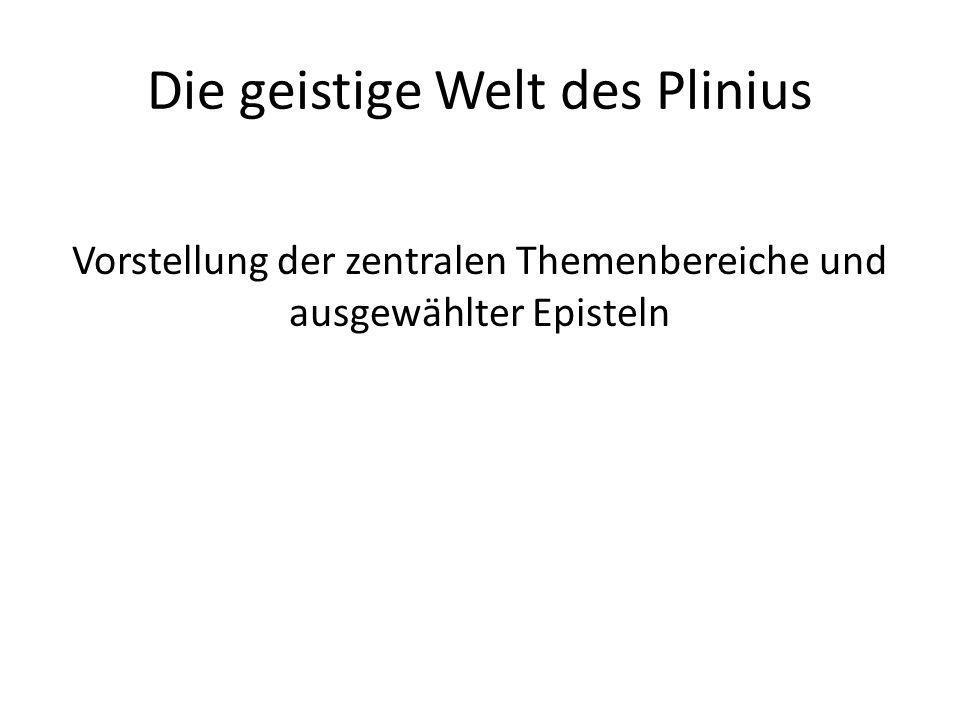 Die geistige Welt des Plinius