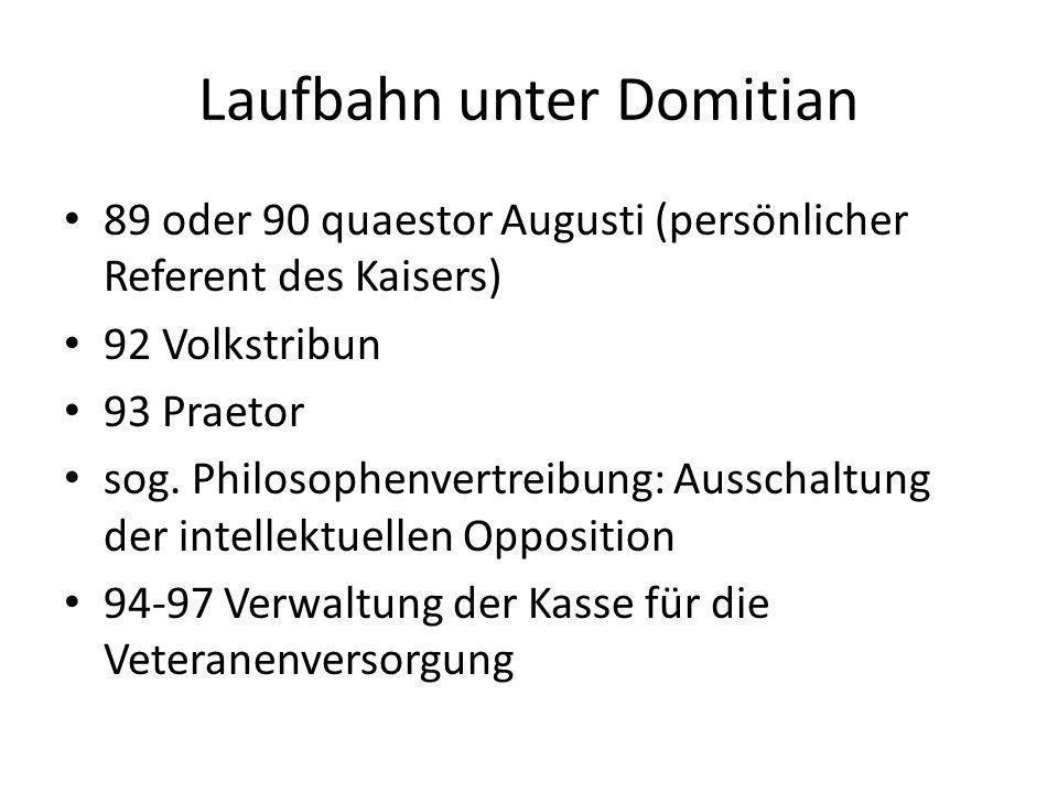 Laufbahn unter Domitian