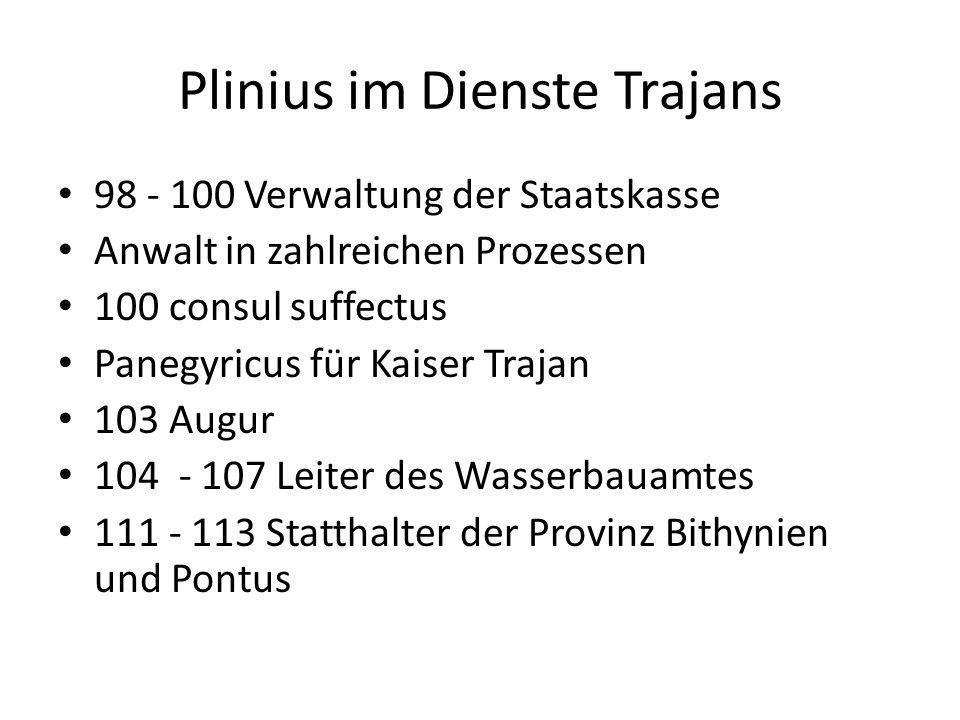 Plinius im Dienste Trajans