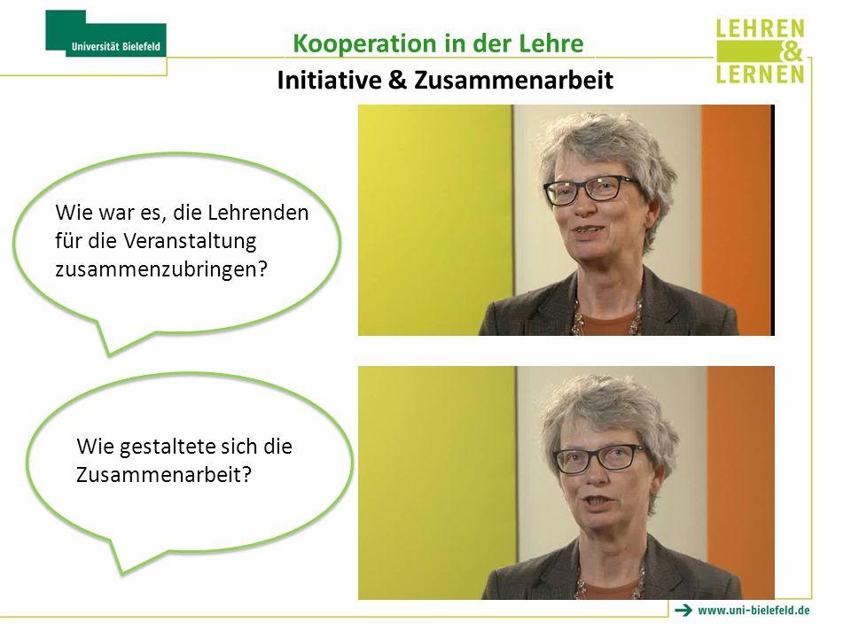 Initiative & Zusammenarbeit