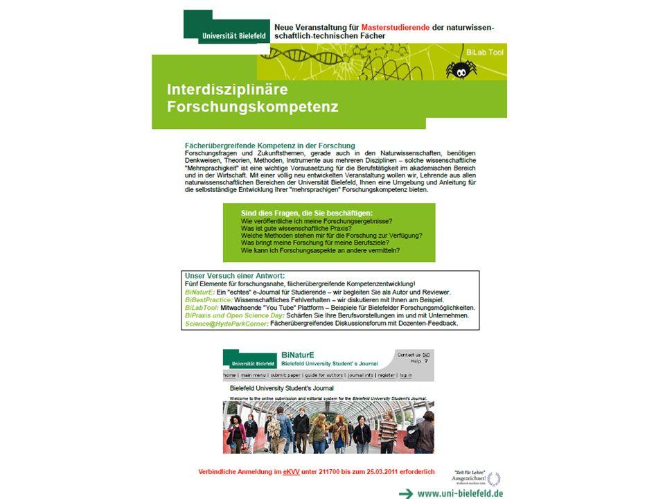 Die einzelnen Bestandteile wurden von je 2-4 Lehrenden gestaltet; Zuordnung nach Interesse & Expertise.