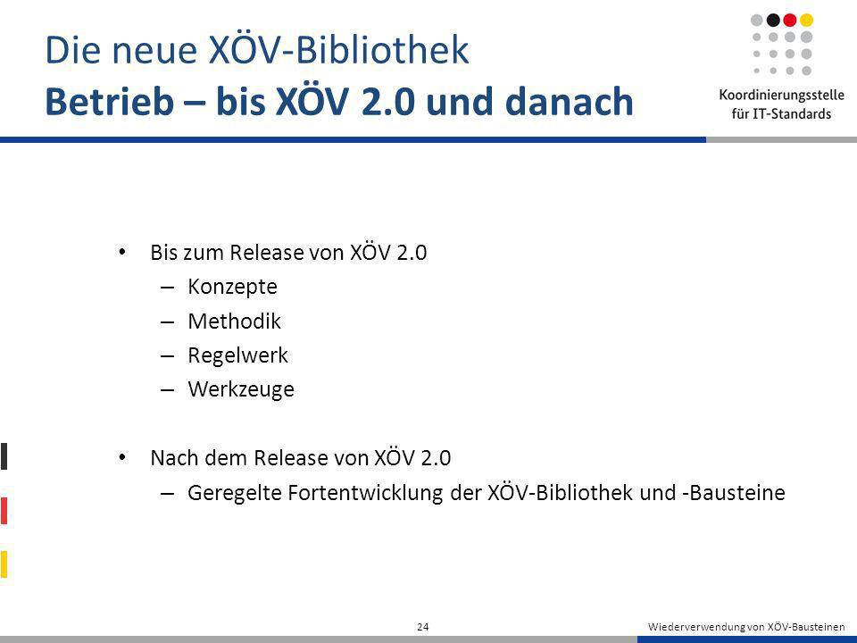 Die neue XÖV-Bibliothek Betrieb – bis XÖV 2.0 und danach