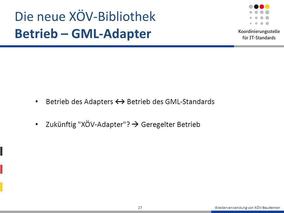 Die neue XÖV-Bibliothek Betrieb – GML-Adapter