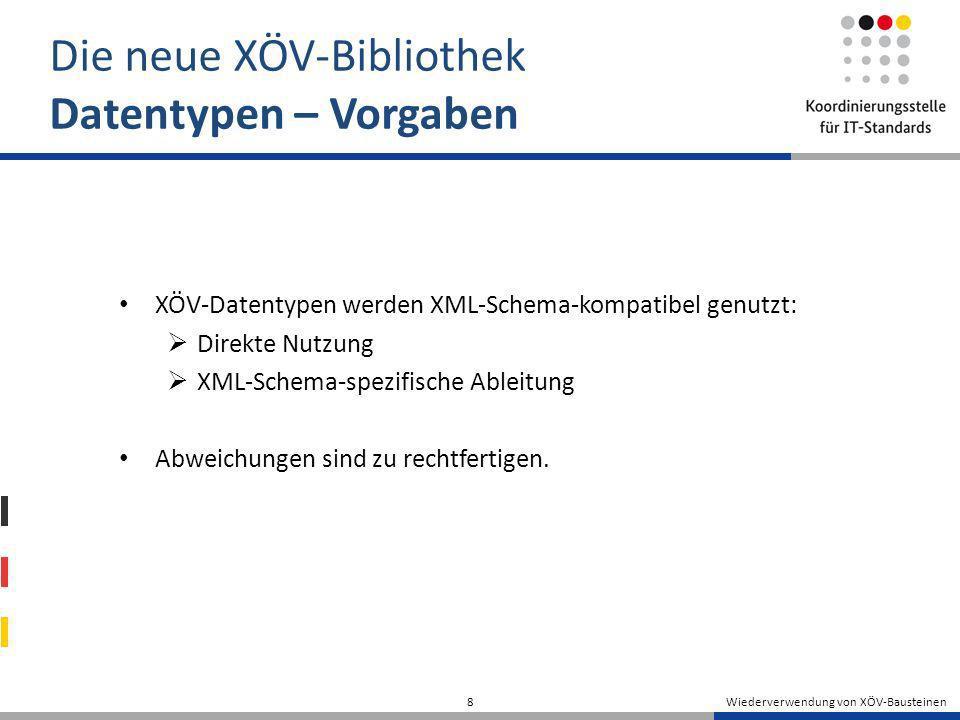 Die neue XÖV-Bibliothek Datentypen – Vorgaben