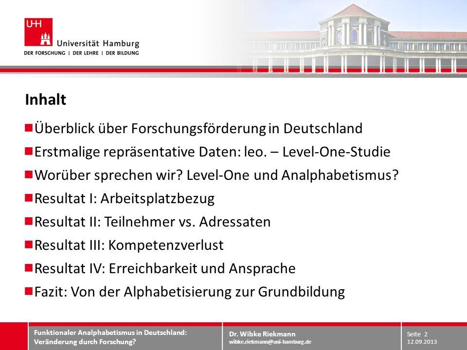 Inhalt Überblick über Forschungsförderung in Deutschland