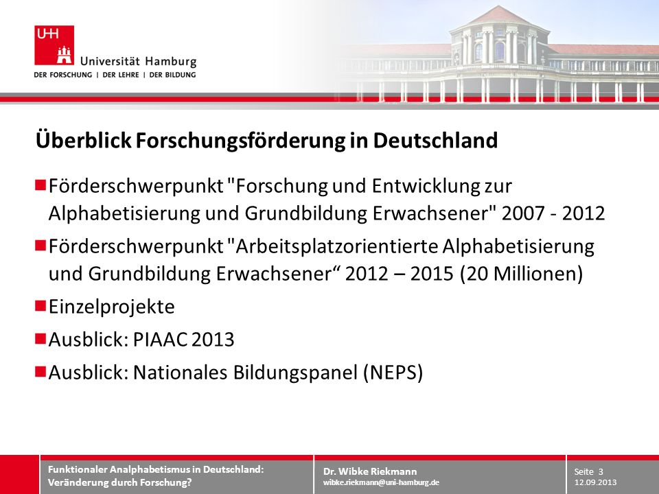 Überblick Forschungsförderung in Deutschland