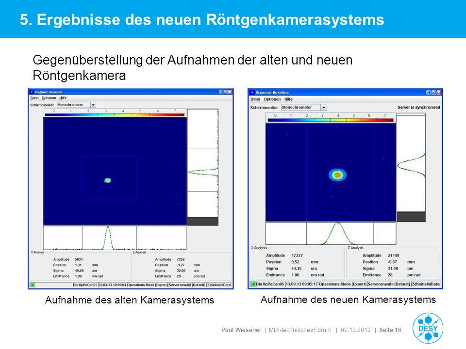 5. Ergebnisse des neuen Röntgenkamerasystems