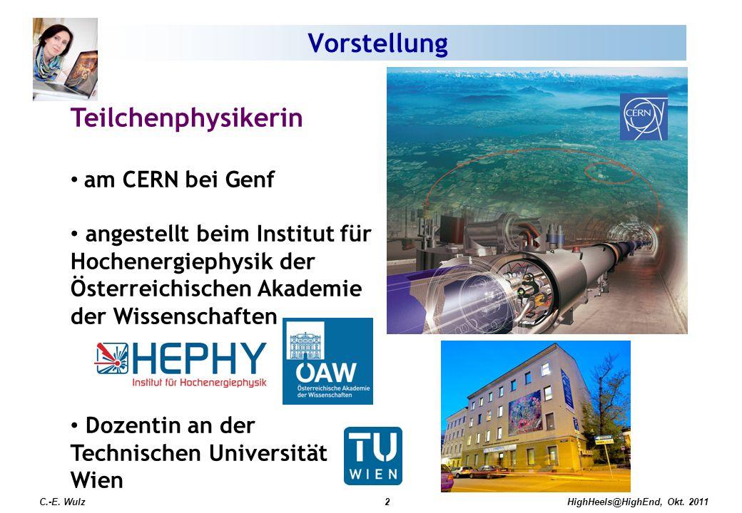Vorstellung Teilchenphysikerin am CERN bei Genf