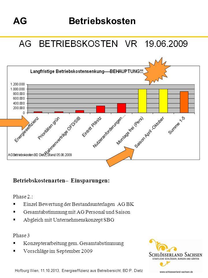 AG Betriebskosten Betriebskostenarten– Einsparungen: Phase 2.: