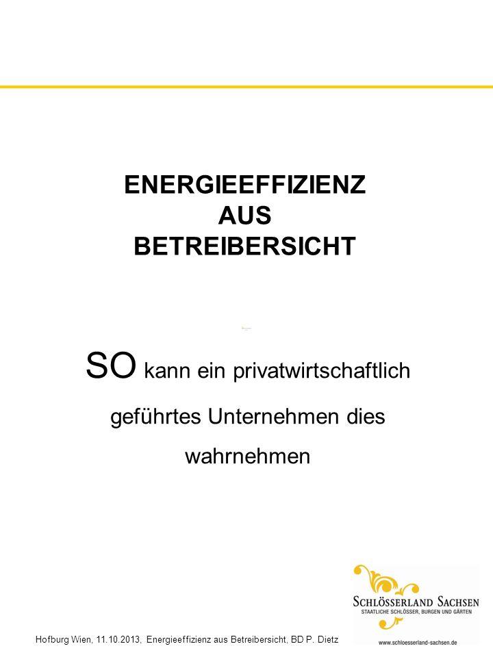 Energieeffizienz aus betreibersicht