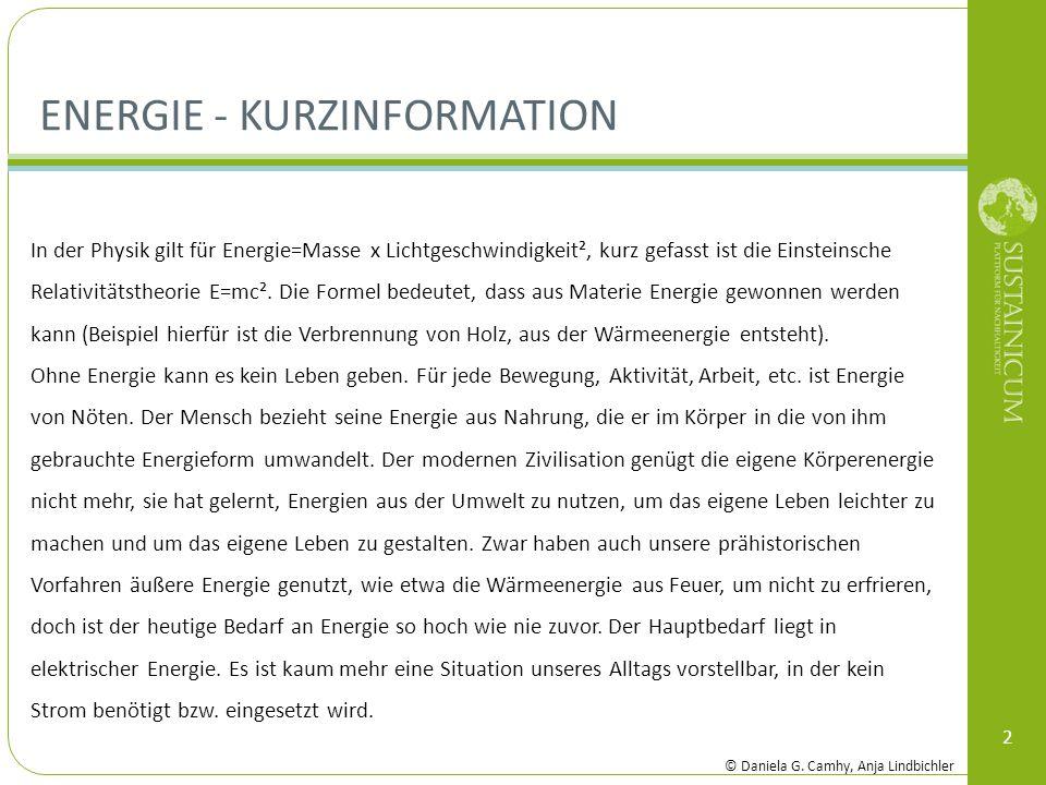Energie - Kurzinformation