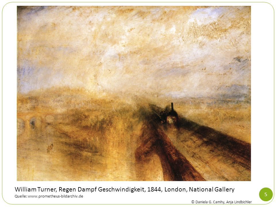 William Turner, Regen Dampf Geschwindigkeit, 1844, London, National Gallery