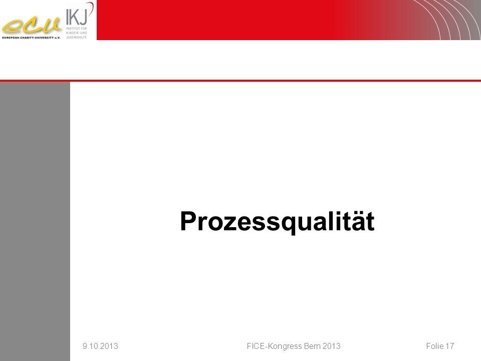 16.08.2007 Prozessqualität 9.10.2013 FICE-Kongress Bern 2013