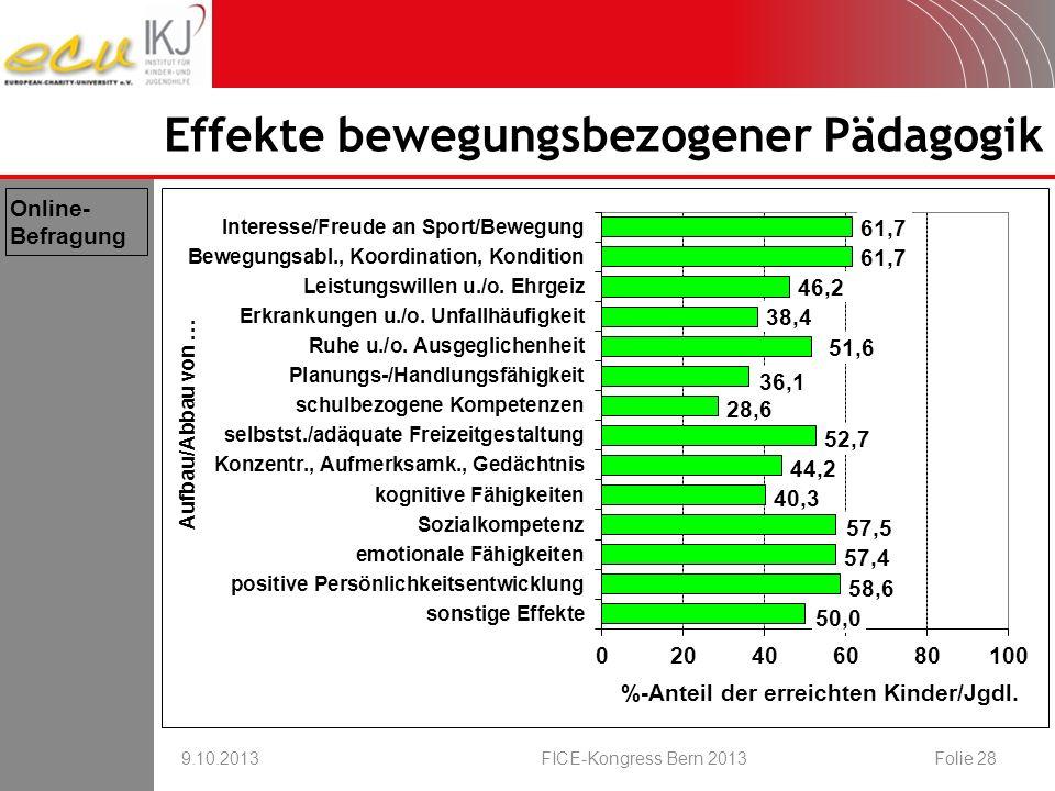 Effekte bewegungsbezogener Pädagogik