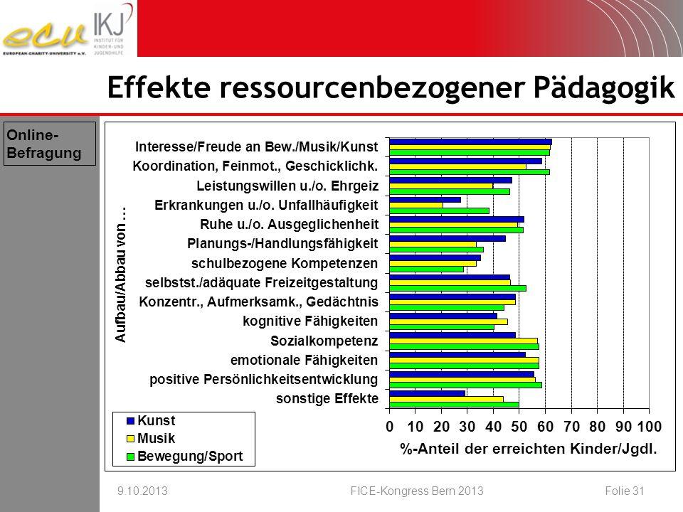 Effekte ressourcenbezogener Pädagogik