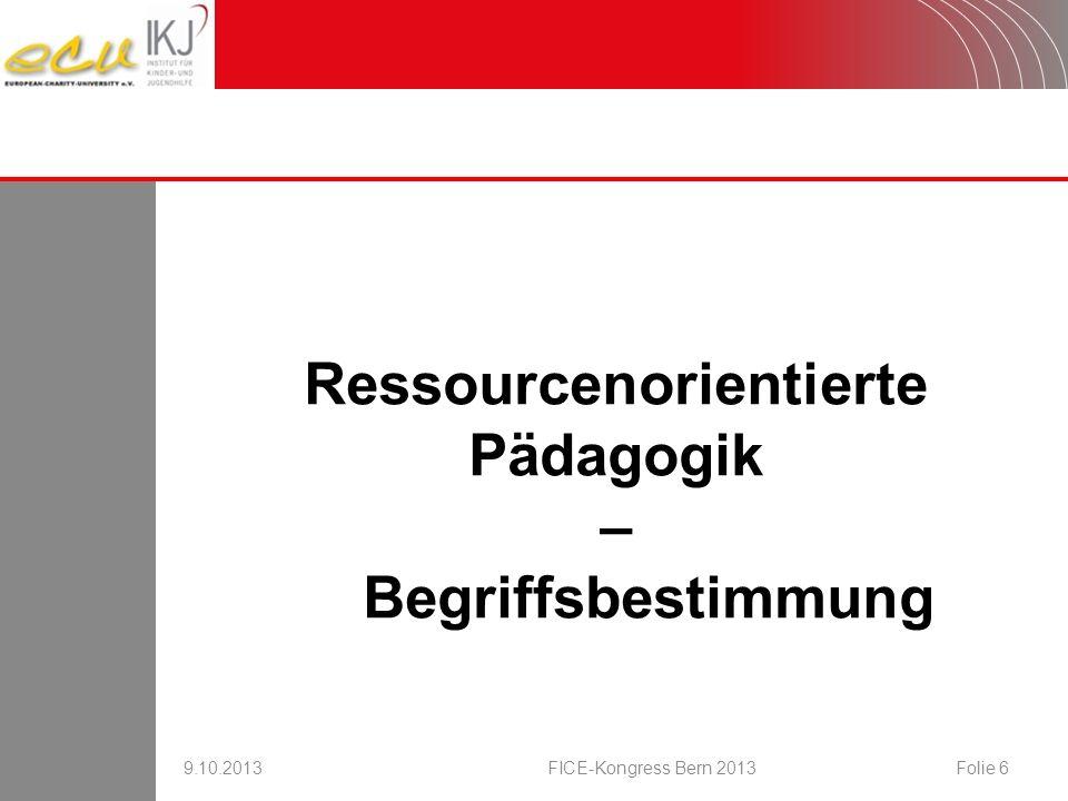 Ressourcenorientierte Pädagogik