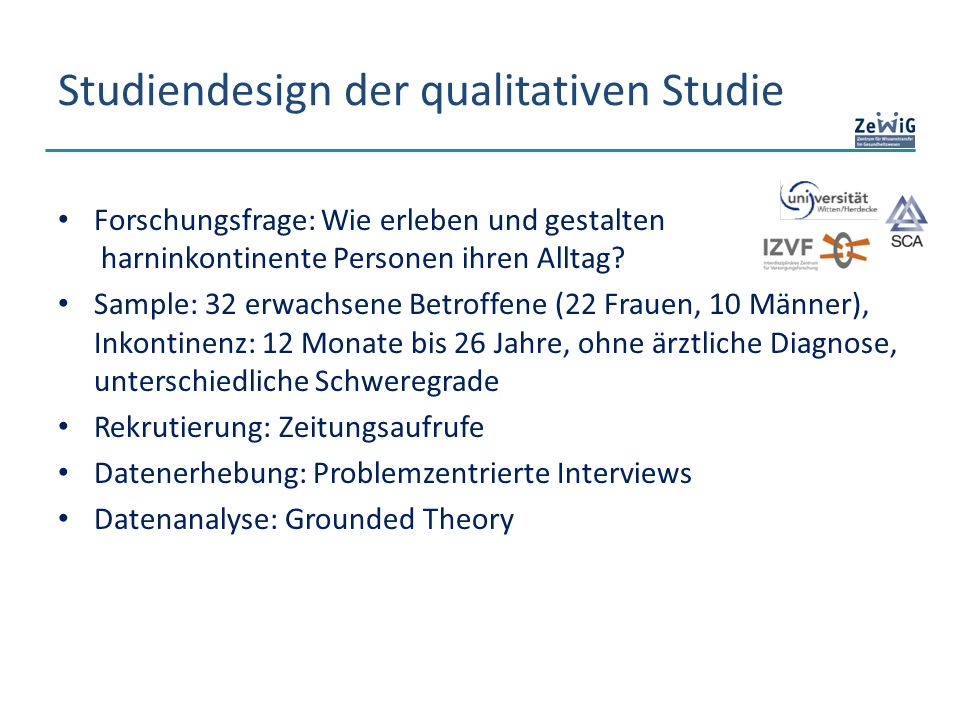 Studiendesign der qualitativen Studie