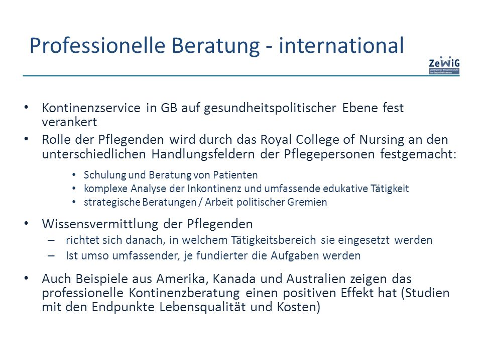 Professionelle Beratung - international
