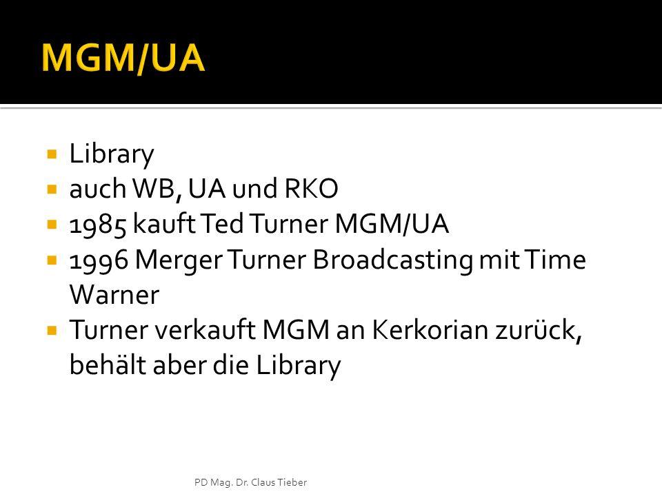MGM/UA Library auch WB, UA und RKO 1985 kauft Ted Turner MGM/UA