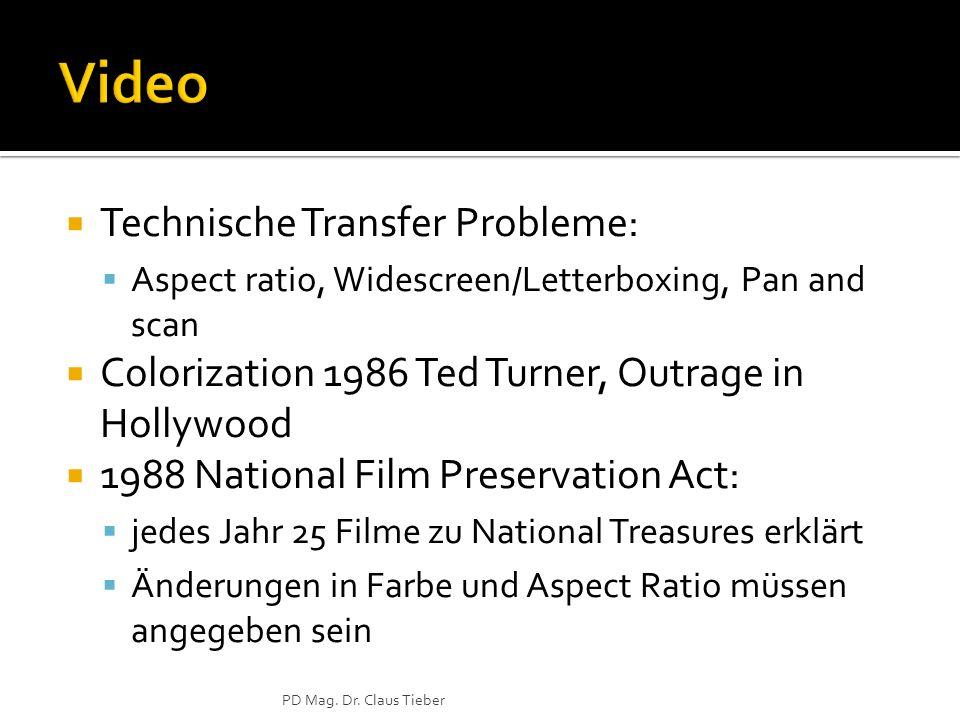 Video Technische Transfer Probleme: