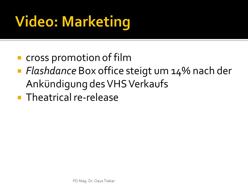 Video: Marketing cross promotion of film