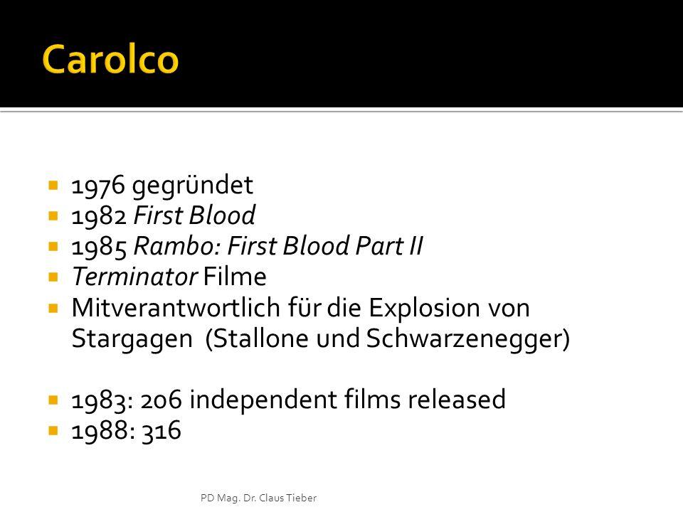 Carolco 1976 gegründet 1982 First Blood