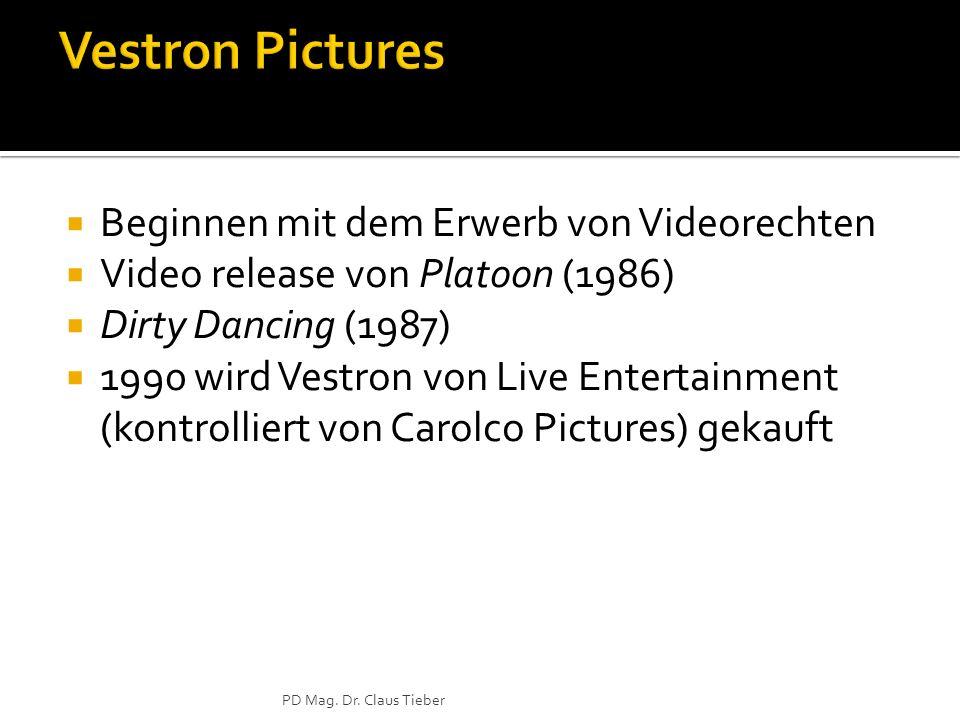 Vestron Pictures Beginnen mit dem Erwerb von Videorechten