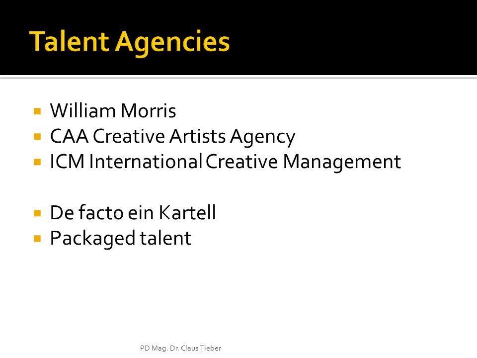 Talent Agencies William Morris CAA Creative Artists Agency