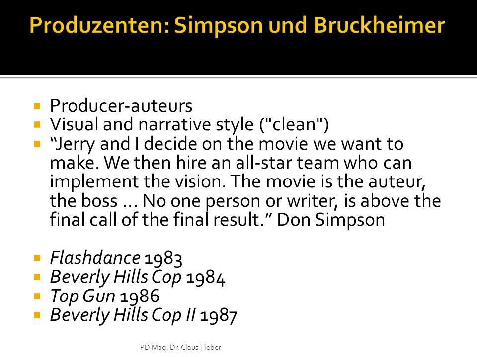 Produzenten: Simpson und Bruckheimer
