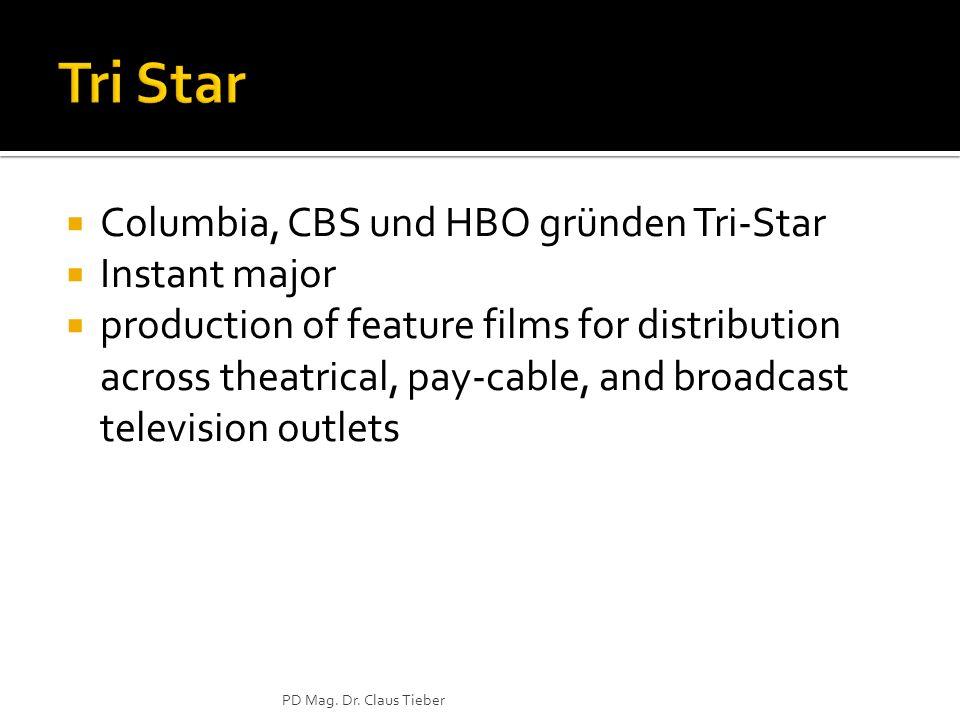 Tri Star Columbia, CBS und HBO gründen Tri-Star Instant major