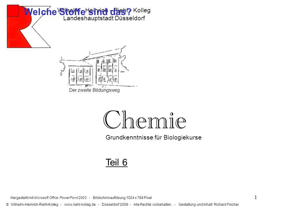 Welche Stoffe sind das Teil 6 Wilhelm - Heinrich - Riehl - Kolleg