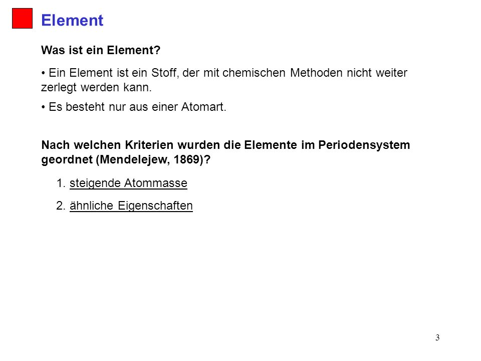 Element Was ist ein Element