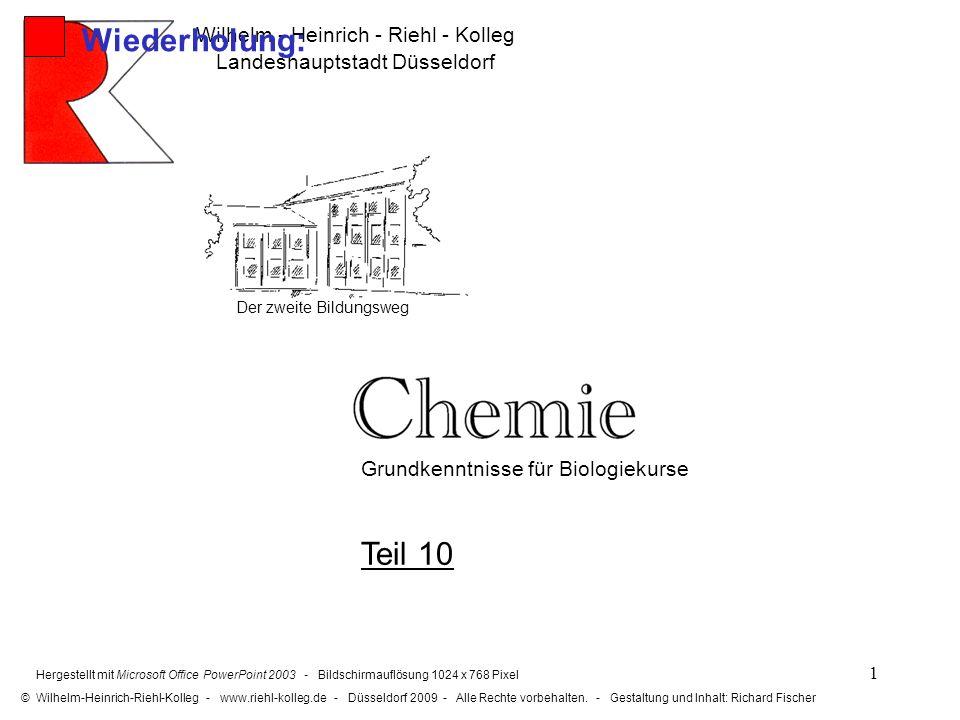 Wiederholung: Teil 10 Wilhelm - Heinrich - Riehl - Kolleg