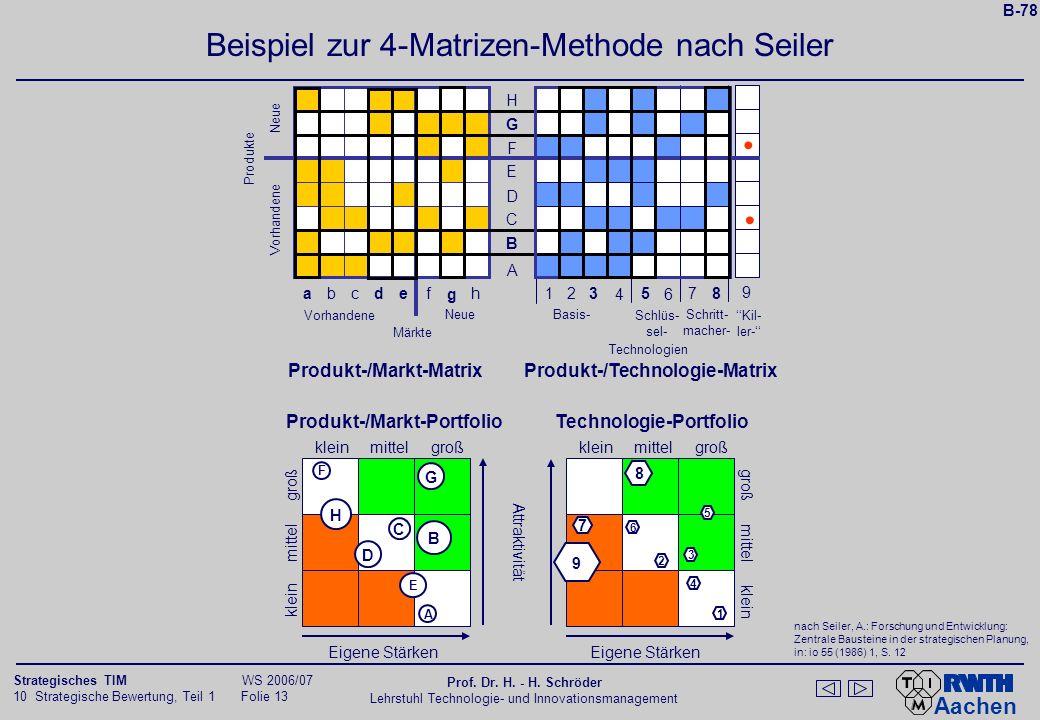 Beispiel zur 4-Matrizen-Methode nach Seiler