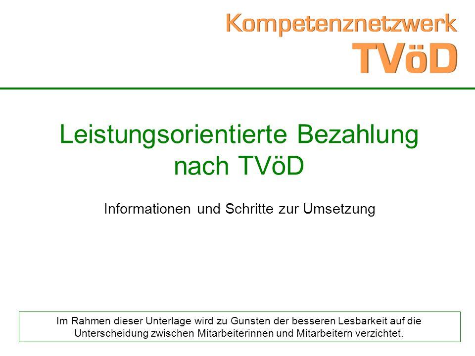 Leistungsorientierte Bezahlung nach TVöD