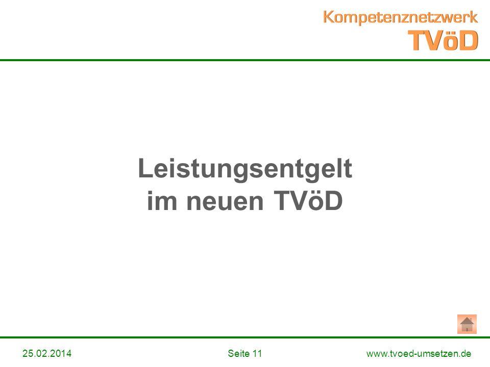 Leistungsentgelt im neuen TVöD
