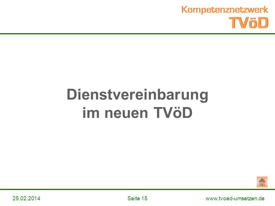 Dienstvereinbarung im neuen TVöD