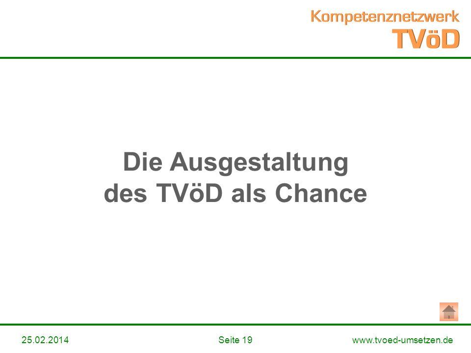 Die Ausgestaltung des TVöD als Chance
