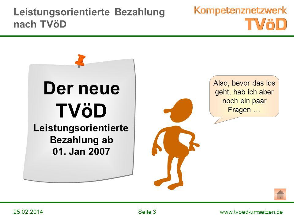 Der neue TVöD Leistungsorientierte Bezahlung ab