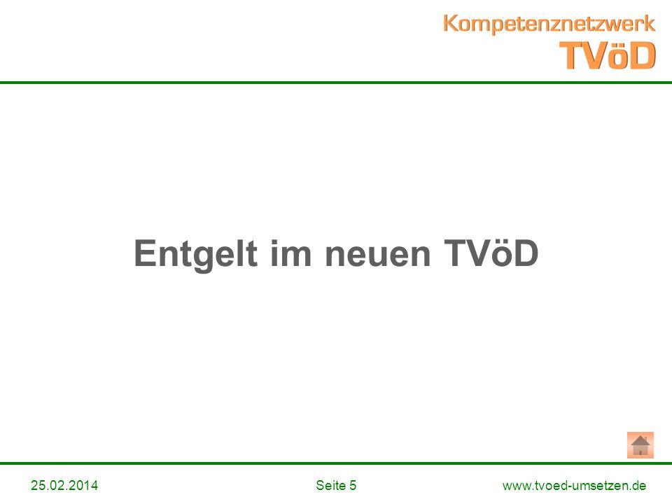Entgelt im neuen TVöD 28.03.2017