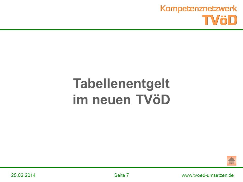 Tabellenentgelt im neuen TVöD