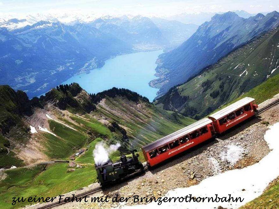 zu einer Fahrt mit der Brinzerrothornbahn